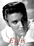 Elvis B&W Metal Tin Sign