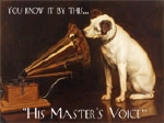 His Masters Voice Metal Tin Sign