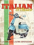 Italian Scooter Metal Tin Sign