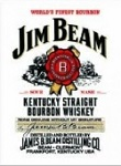 Jim Beam Metal Tin Sign