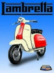 Lambretta Blue Metal Tin Sign