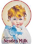 Nestle Baby Metal Tin Sign