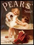 Pears Girl Metal Tin Sign