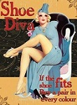 Shoe Diva Metal Tin Sign