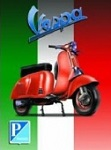 Vespa Metal Tin Sign