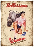 Vespa Bellisima Metal Tin Sign