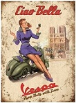 Vespa Ciao Bella Metal Tin Sign
