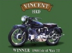 Vincent Metal Tin Sign