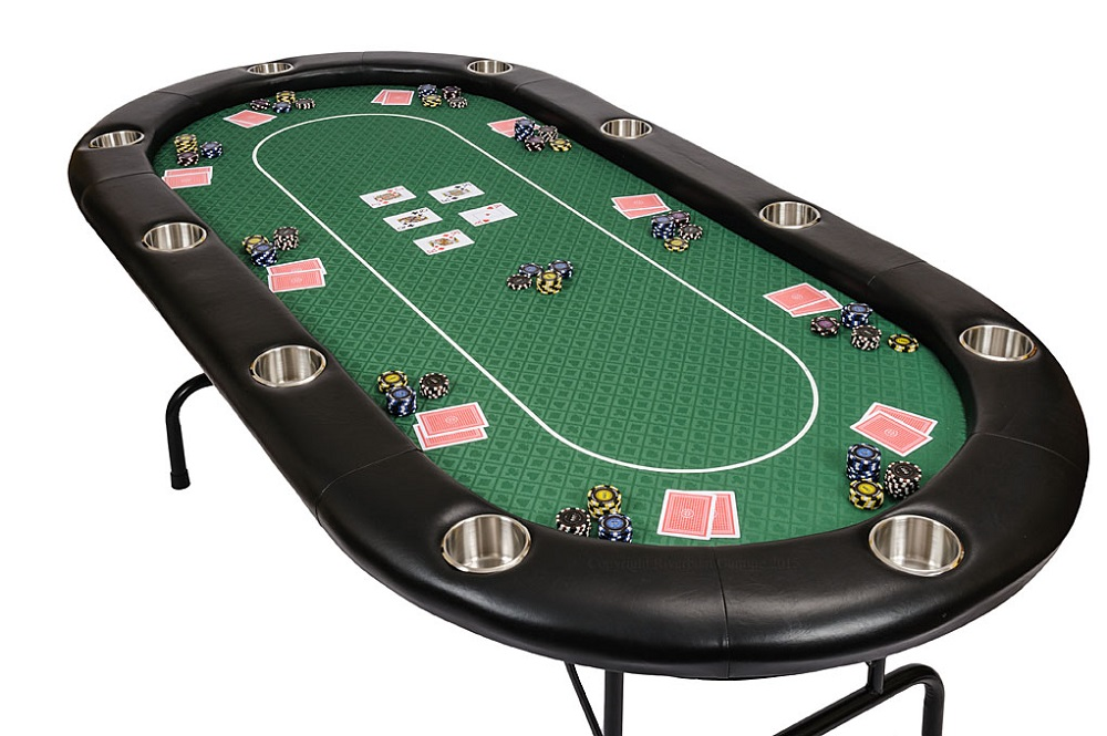Pin fodlable poker table size 48 x48 materials mdf eva pu for 10 person folding poker table